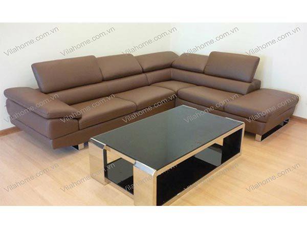 Biến không gian trở nên hoàn hảo nhờ sofa da góc phải với thảm trải sản
