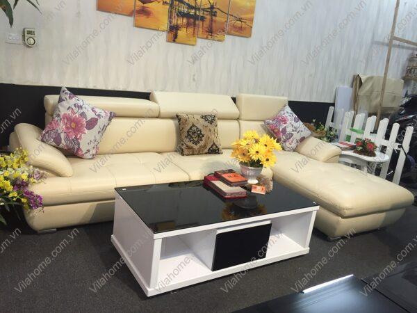 mẫu bàn kính sofa