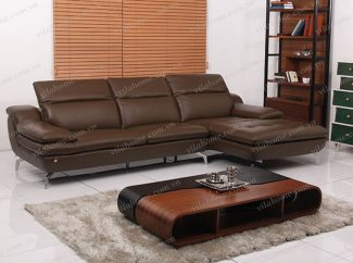 Một số ý tưởng phối hợp màu sắc sofa góc bằng da với phụ kiện