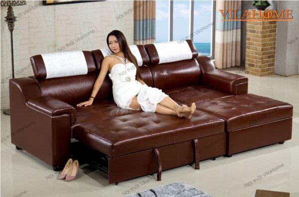 sofa giường da