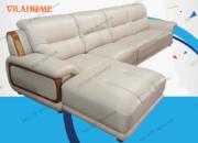 Bộ góc phải sofa da nhập - NK08 - Cửa hàng bán sofa da cho phòng khách