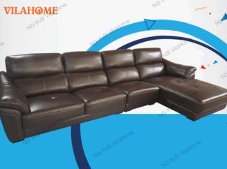 Bộ góc trái sofa da nhập - NK15 - Bộ bàn ghế sofa da phòng khách