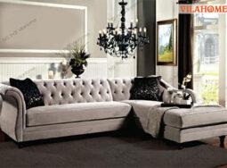Ghế Sofa Góc Bọc Vải Tân Cổ Điển – 3039