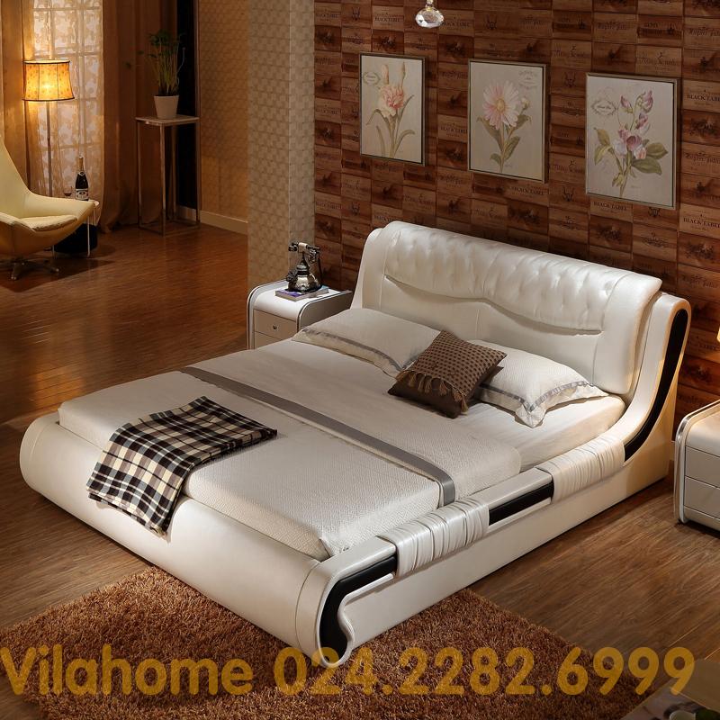 Giường hiện đại bọc da GBD-001-2