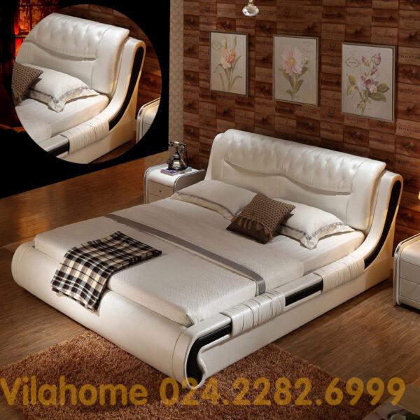 Giường hiện đại bọc da GBD-001
