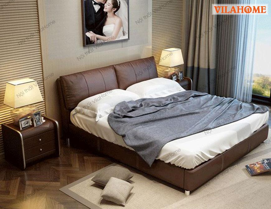 Giường Ngủ Bọc Da Hiện Đại 7005