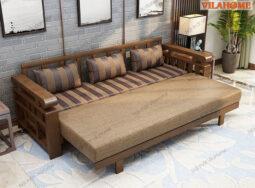 Ghế Sofa Giường Gỗ Dáng Văng Đẹp – G901