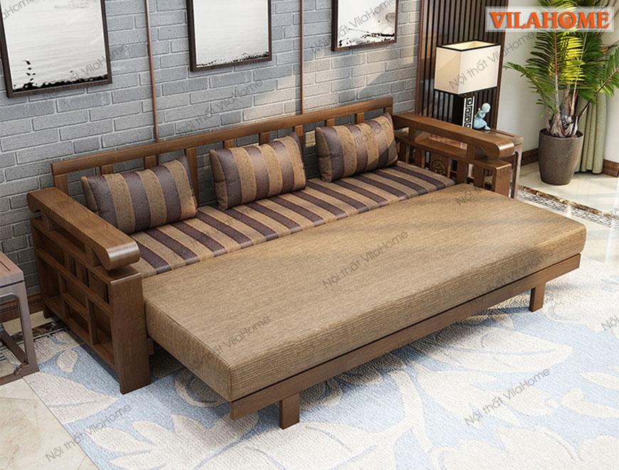 Sofa Giường Gỗ đẹp G901 Sofa Giường Gỗ Cao Cấp Gia Rẻ Tại Ha Nội