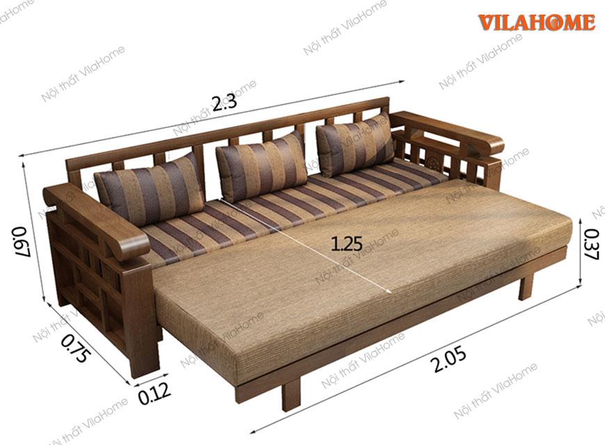 Kích thước sa lông giường