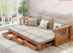 Sofa Giường Gỗ Đẹp – G902