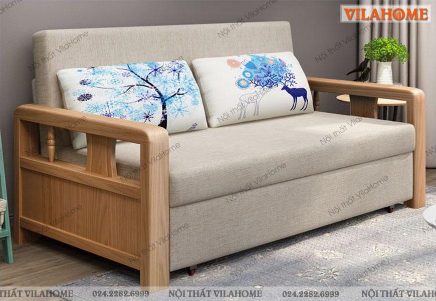 Sofa giường gỗ S901 đẹp độc lạ năm 2020