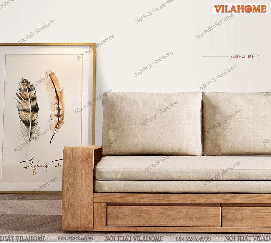 Sofa giường gỗ độ sắc nét đến từng chi tiết