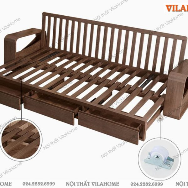sofa bed gỗ hà nội