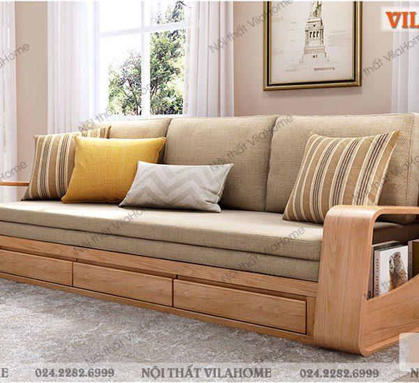 sofa giường gỗ giá rẻ ở thanh xuân hà nội