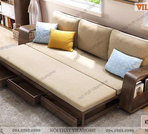 sofa giường gỗ hiện đại - Xu hướng chọn ghế sofa giường đa năng cho không gian hiện đại