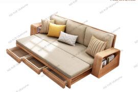 TOP 4 mẫu sofa giường gỗ đa năng đẹp nhất hiện nay 2020