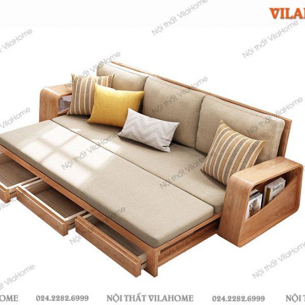 ghế sofa gỗ kéo ra thành giường
