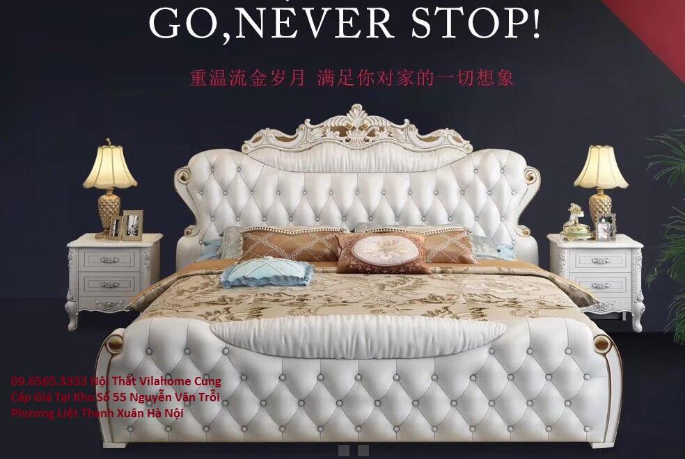 Giường ngủ tân cổ điển hàng nhập khẩu