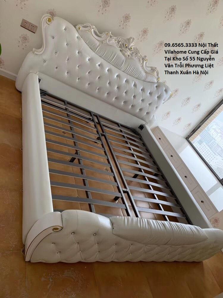 Giường ngủ hiện đại có ghế massage đa năng bọc da tại Hà Nội