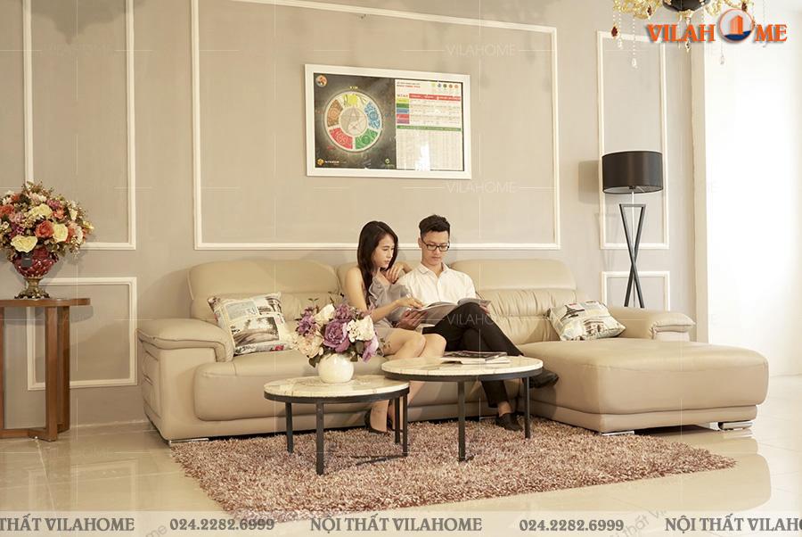 Kích thước sofa phòng khách màu kem