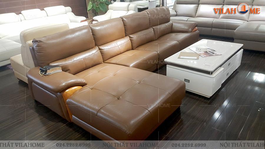 sofa da góc nhập khẩu