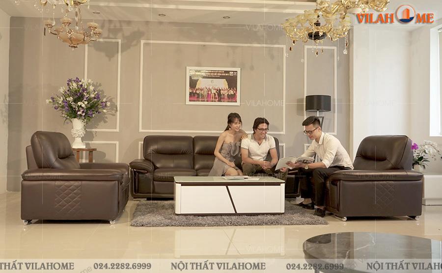 Ghế sofa văn phòng sofa 1 văng 2 ghế đơn