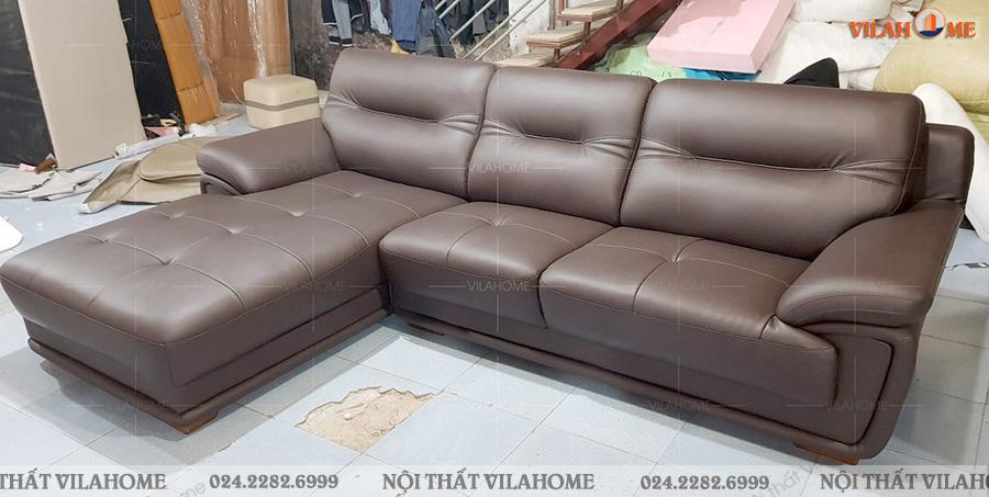 sofa phòng khách bằng da ở hà nội