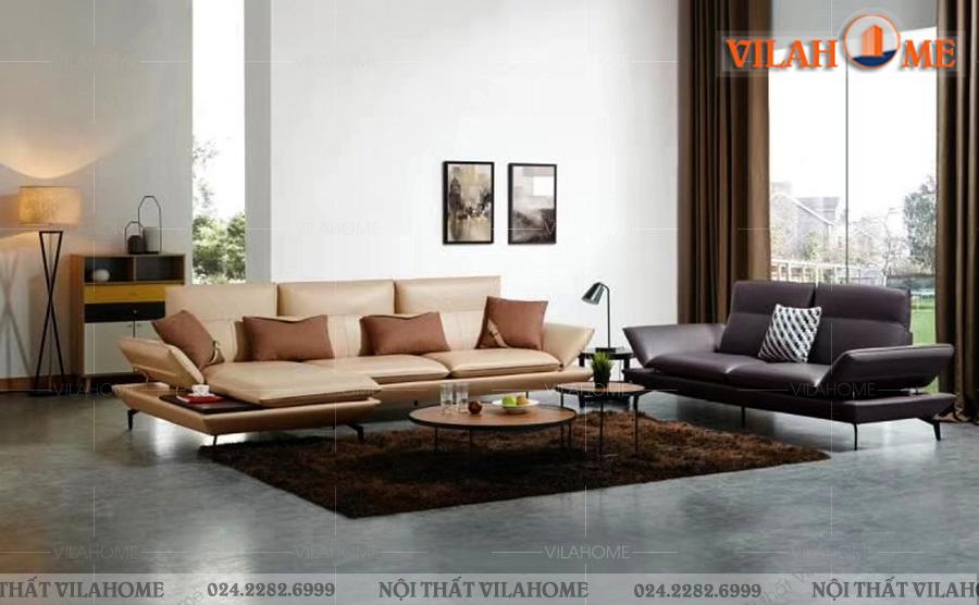 Mẫu sofa phòng khách bằng da đẹp nhất năm 2020