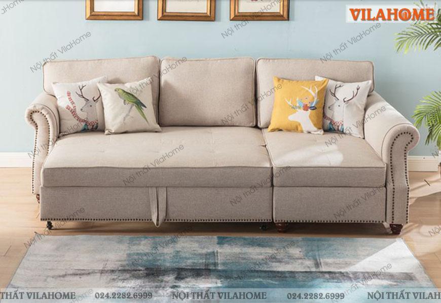 Ghế sofa kéo ra thành giường ngủ đa năng tiện dụng