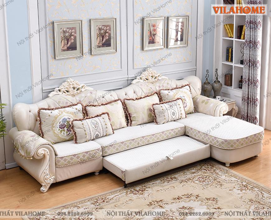 Sofa giường phong cách tân cổ điển.