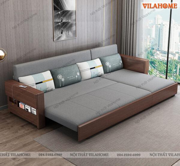 Ghế giường sofa gấp đa năng, 3 nấc kéo ra thành giường