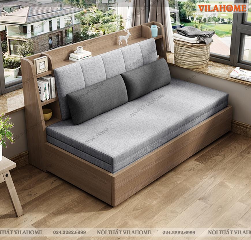 ghế kéo thành giường đa năng bọc vải nỉ nhập khẩu mềm mịn thoáng