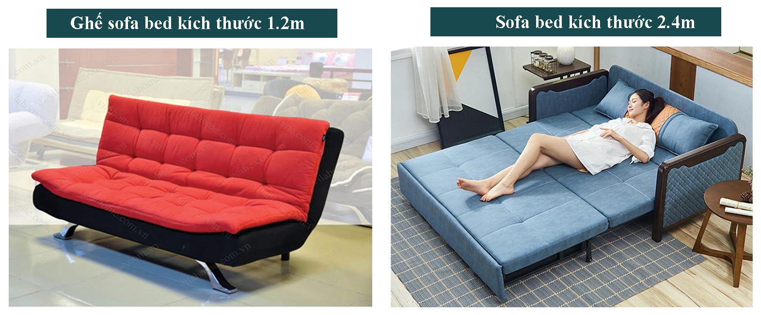 Kích thước sofa giường