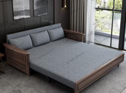 Sofa Giường Ngủ Khung Gỗ Sồi Mẫu Mới – GS04