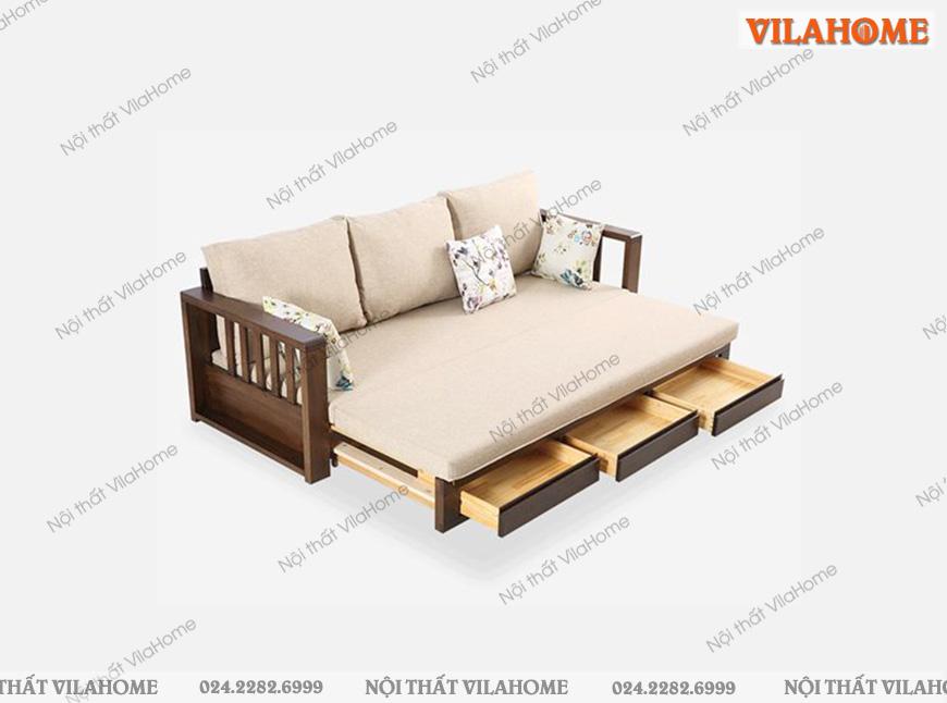 ghế sa lông giường gỗ tự nhiên