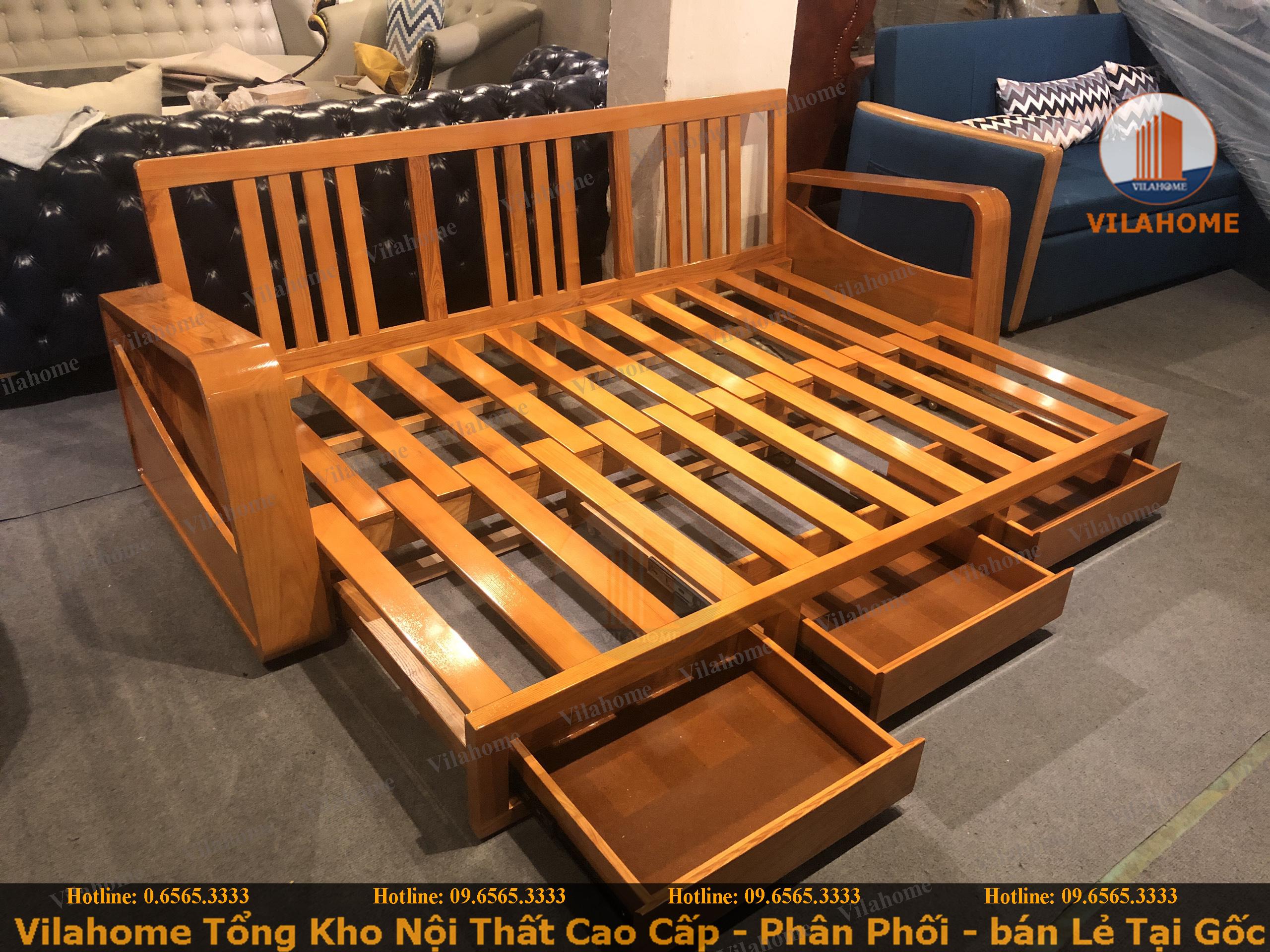 khung giường ghế thông minh nhập khẩu với thiết kế chắc chắn