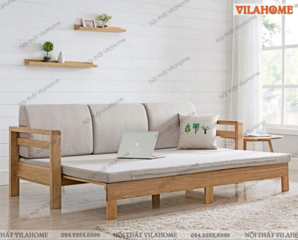 ghế gấp giường khung gỗ hiện đại cho căn phòng tràn năng lượng