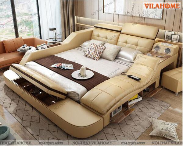 Giường thông minh có ghế massage GM26 hàng nhập khẩu tại showroom Vilahome